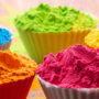 カラフルな色粉